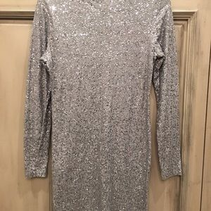 DKNY silver sequin tunic